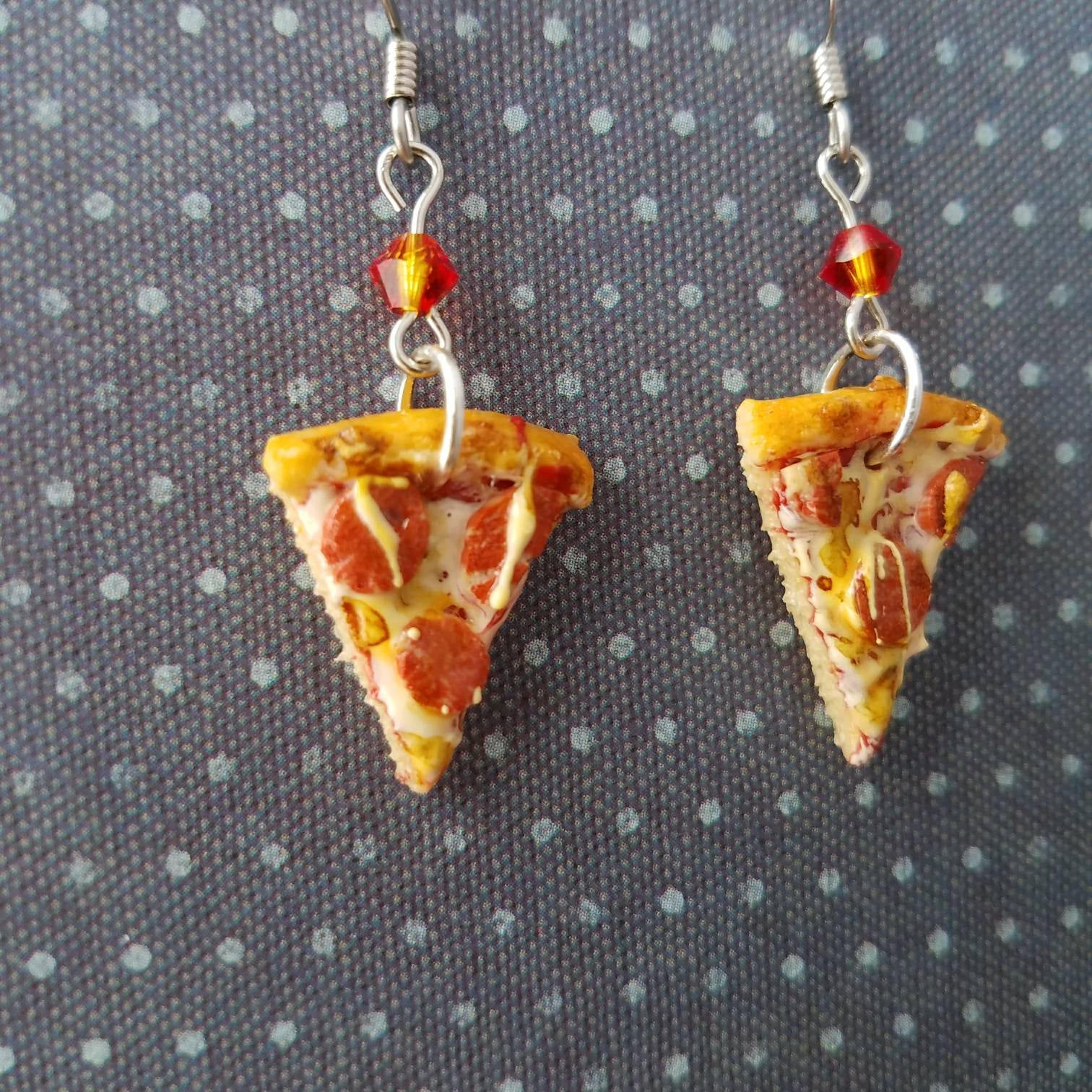 Pepperoni Pizza Earrings