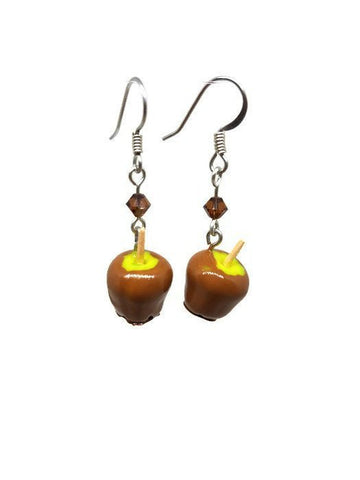 Caramel Apple Earrings