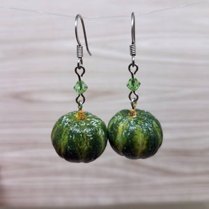 Kabocha Squash Earrings