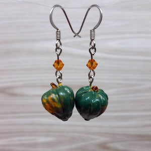 Acorn Squash Earrings