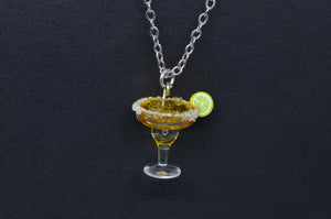 Tiny Margarita Necklace, Cocktail Jewelry