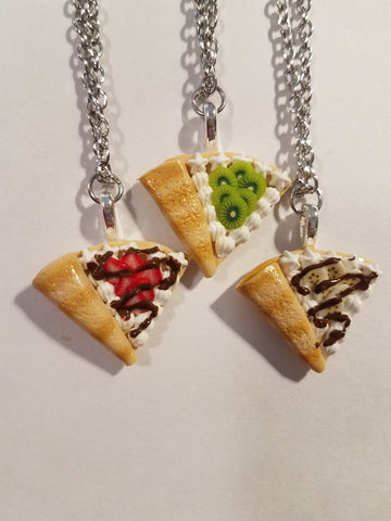 Miniature Fruit Crepe Charm Necklace
