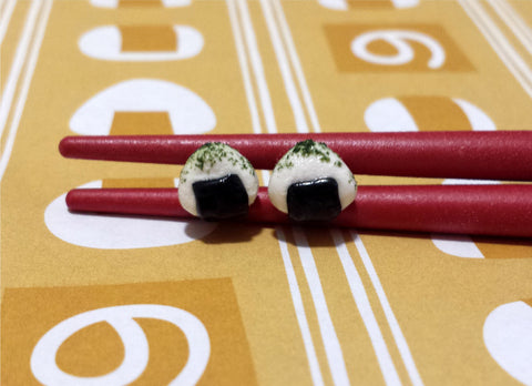 Onigiri Rice Ball with Seaweed - Miniature Food Jewelry