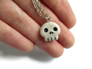 Creepy Skull Pendant Necklace