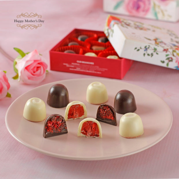 Floral Box 9 Pcs - Fruit Praline - New