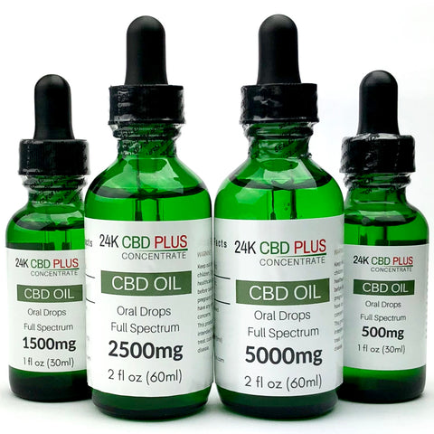 500mg, 1500mg, 2500mg, or 5000mg Full Spectrum CBD Oil Oral Drops Tincture PEACH , MANGO , ETC