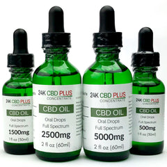 500mg, 1500mg, 2500mg, or 5000mg CBD Oil Oral Drops Tincture PEACH , MANGO , ETC