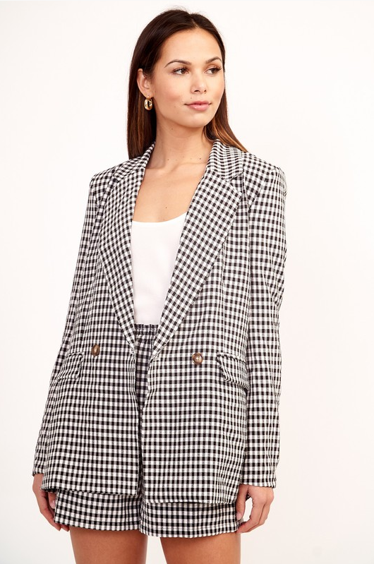 Gingham Blazer - At Piece Kyle | Alene Too