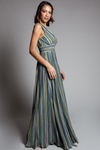 Fit & Flare Lurex Maxi Dress - At Piece Kyle | Alene Too