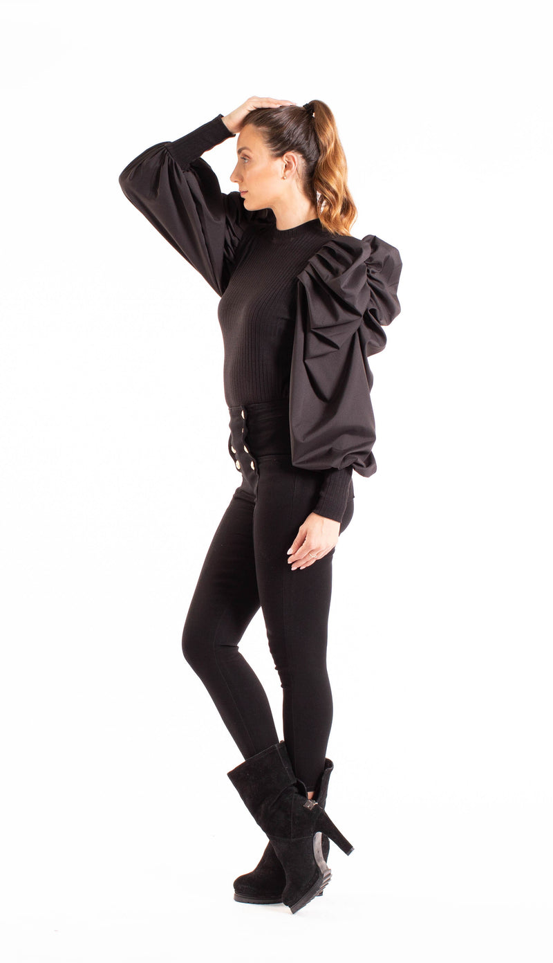 Lantern Sleeve Sweater Top - At Piece Kyle | Alene Too