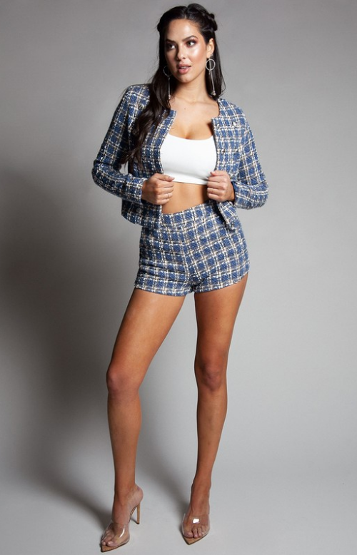 Plaid Tweed Jacket - At Piece Kyle | Alene Too