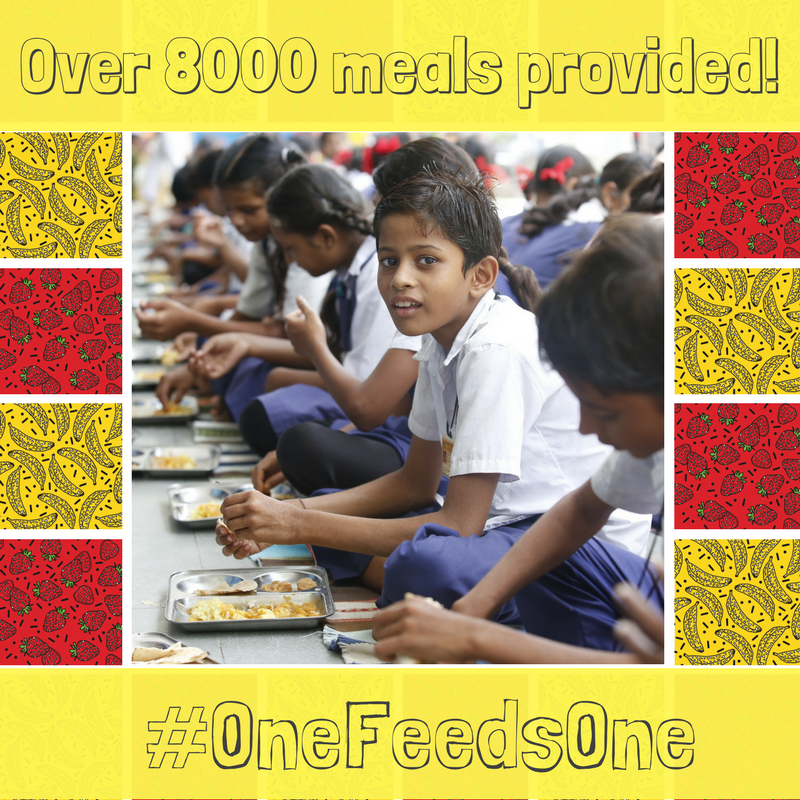 Over 8000 meals now provided for children in India!
