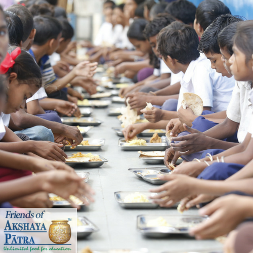 Darlo's A Little Giving Food programme and our wonderful charitable partner, The Akshaya Patra Foundation