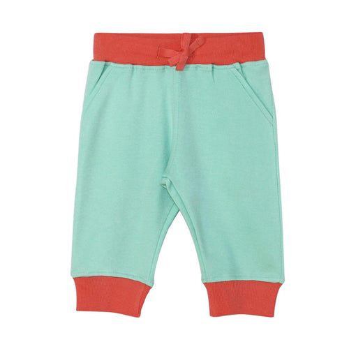Maxin' Relaxin' Joggers in coral and mint