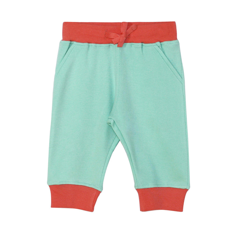 Darlo Ethical Babywear coral and mint joggers