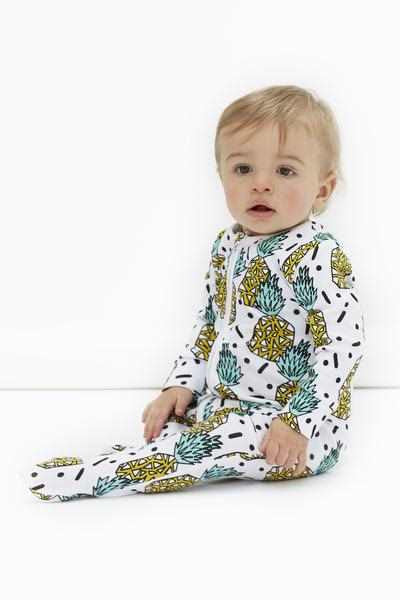 Darlo Ethical Babywear Punky Pineapple Sleepsuit with zip