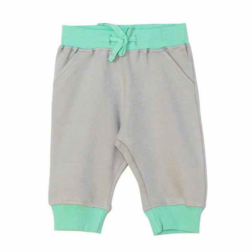 Darlo Ethical Babywear grey and mint joggers