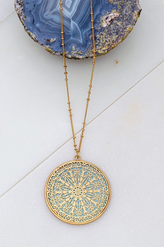 Filigree Pendant Necklace - S.O.S Save Our Soles