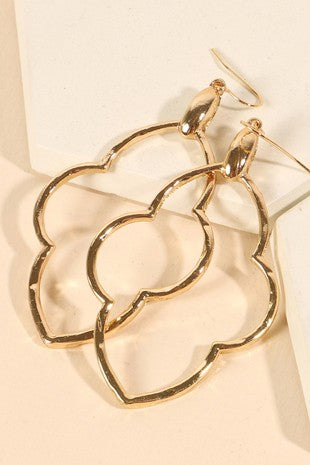 Quatrefoil Earrings - S.O.S Save Our Soles