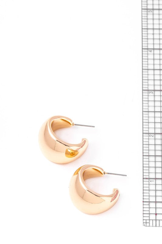 Thick Metallic Hoop earrings - S.O.S Save Our Soles