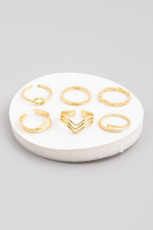 Stacking Ring Set of 6 - S.O.S Save Our Soles