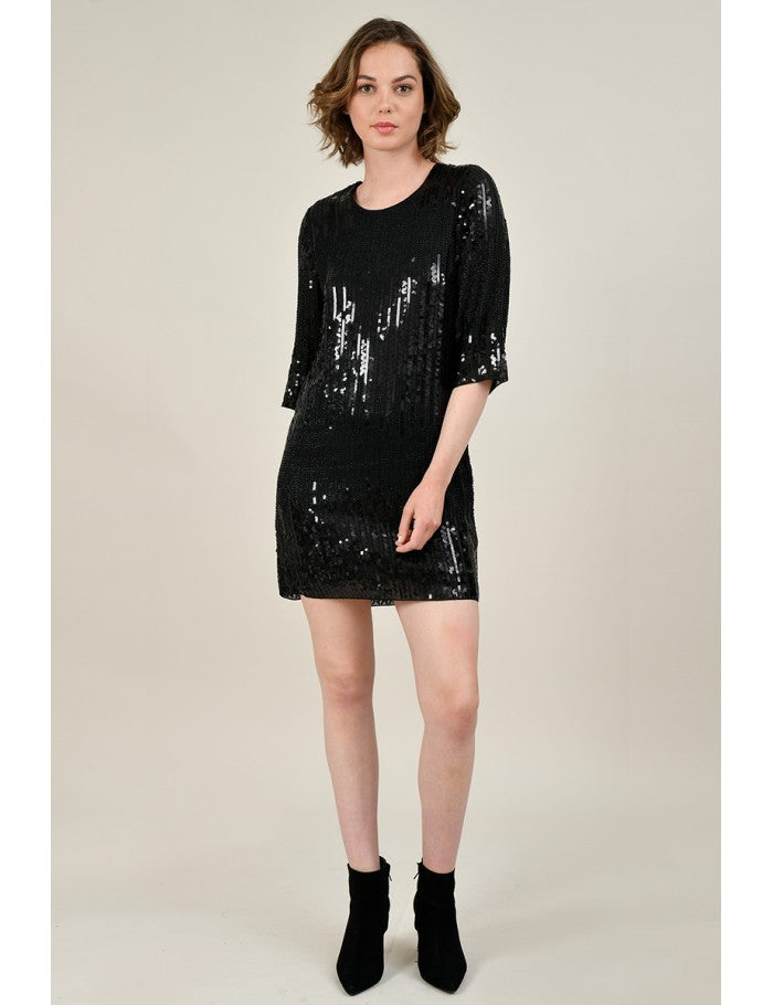 Molly Bracken Sequin Shift Dress