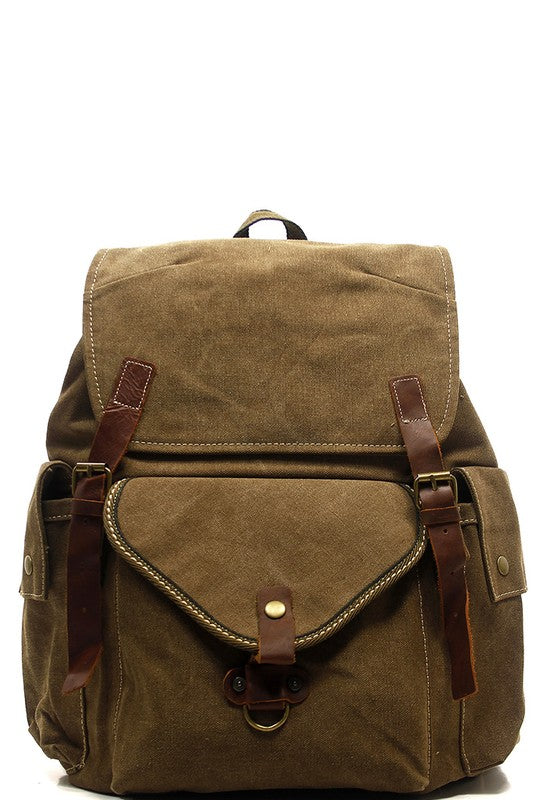 Military Canvas Backpack - S.O.S Save Our Soles