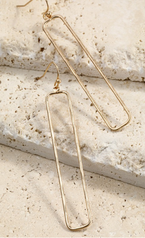 Rectangle Earring - S.O.S Save Our Soles