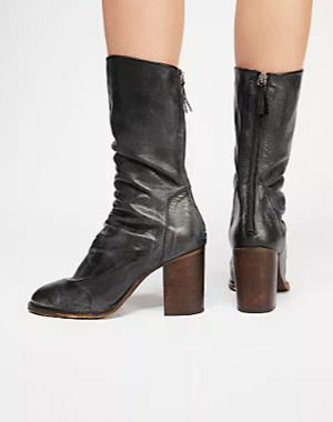 Free People Elle Block Heel Boot - S.O.S Save Our Soles