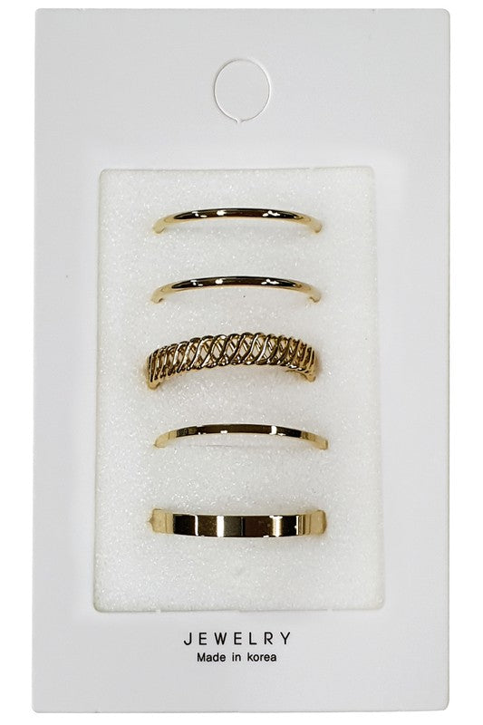 Gold Stack Rings - S.O.S Save Our Soles