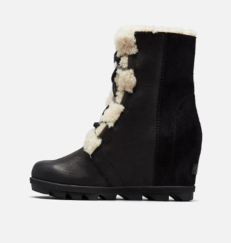 Sorel Joan of Arctic Wedge Shearling Lace Up Boot