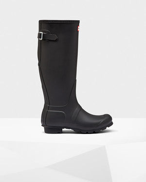 Hunter Original Tall Back Adjustable Black Wellington Boot