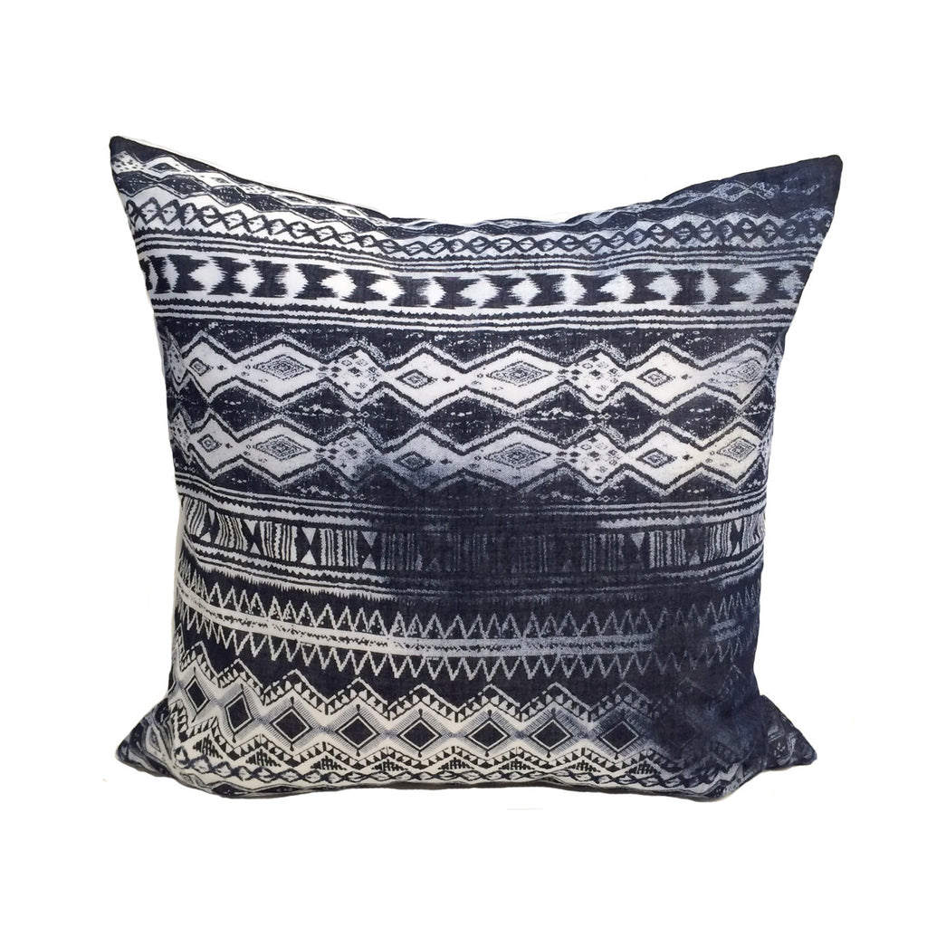 Indigo Ikat Distressed