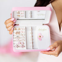 Pink Travel Jewelry Case💎