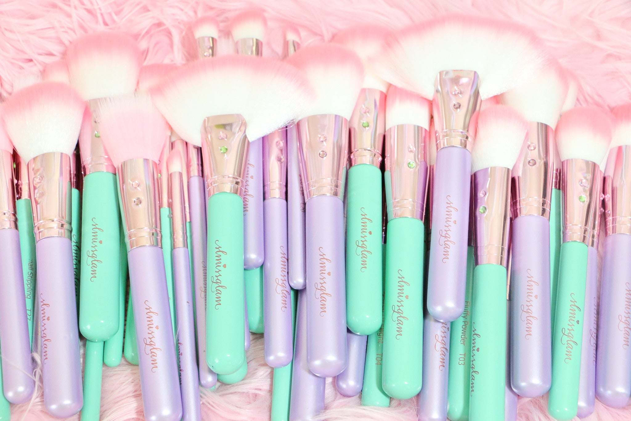 Teal Glam Brush Book💕
