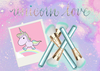 Unicorn Sparkle Glam Brush Set♥♥