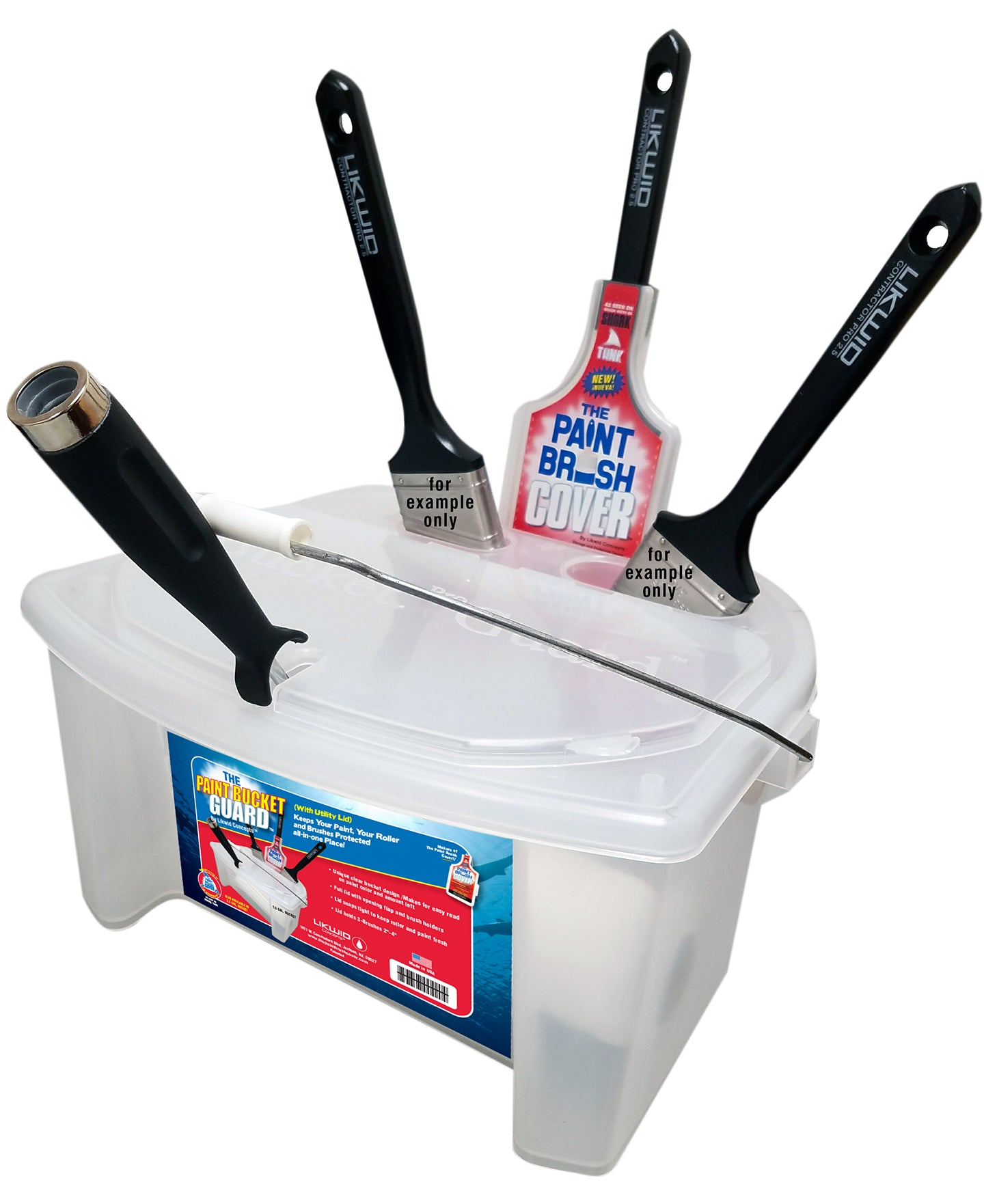 The Paint Bucket Guard Kit With Utility Lid 1 5 Gallon New Paint Brush Cover