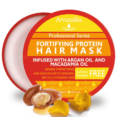 Arvazallia Fortifying Protein Hair Mask and Deep Conditioner with Argan Oil and Macadamia Oil