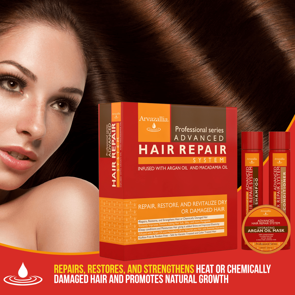 Advanced Hair Repair Shampoo And Conditioner Set With Argan Oil