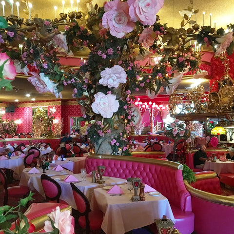 Dining room at the Madonna Inn