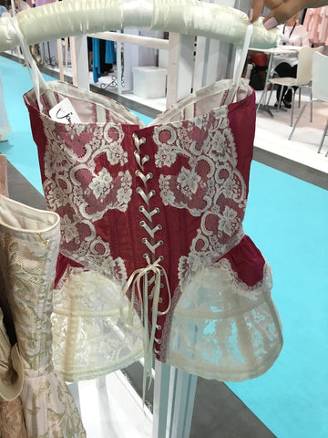 Jane Woolrich satin and lace corset