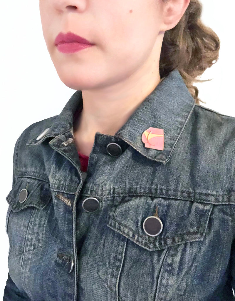 Butt Enamel Pin