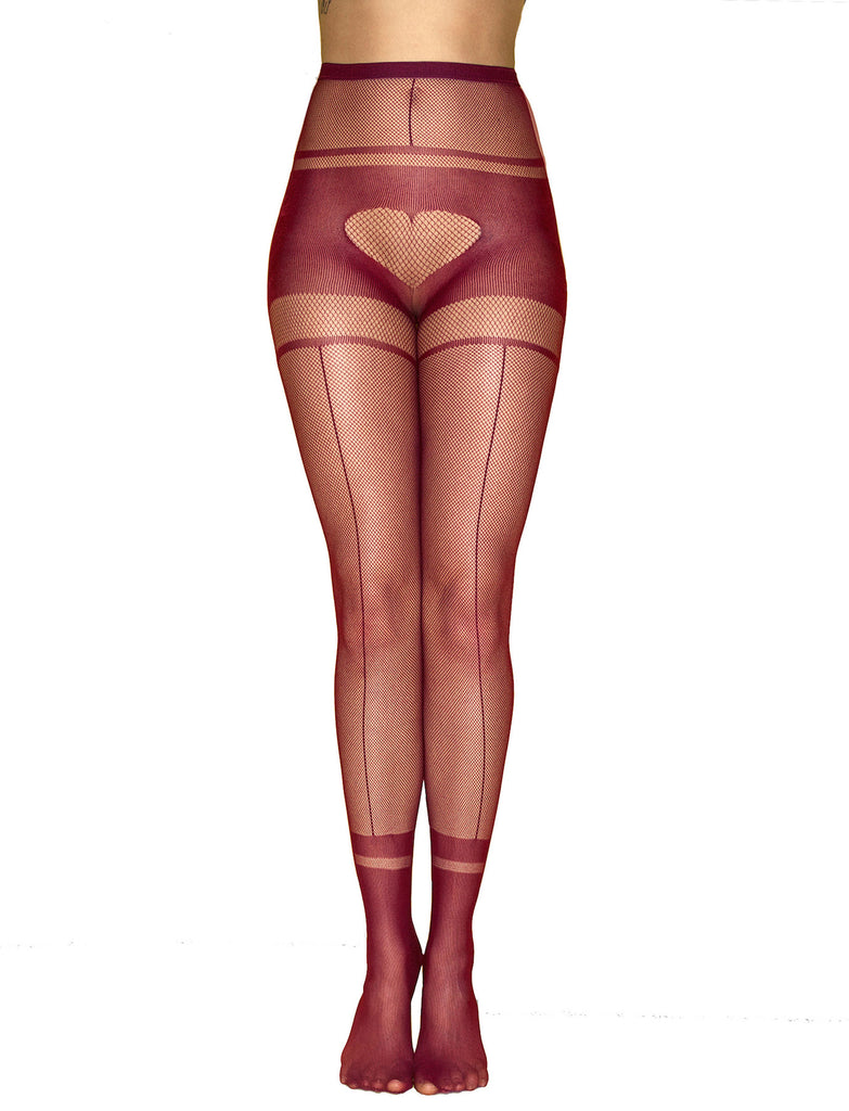 I Heart U Tights - Red
