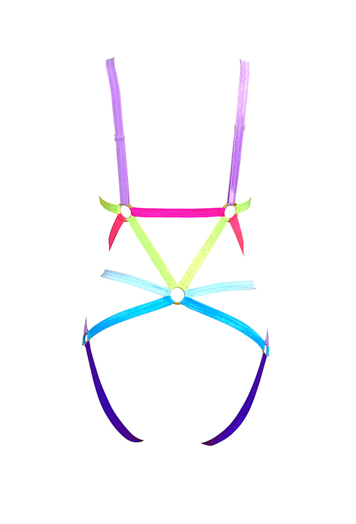 Neon Harness Bodysuit