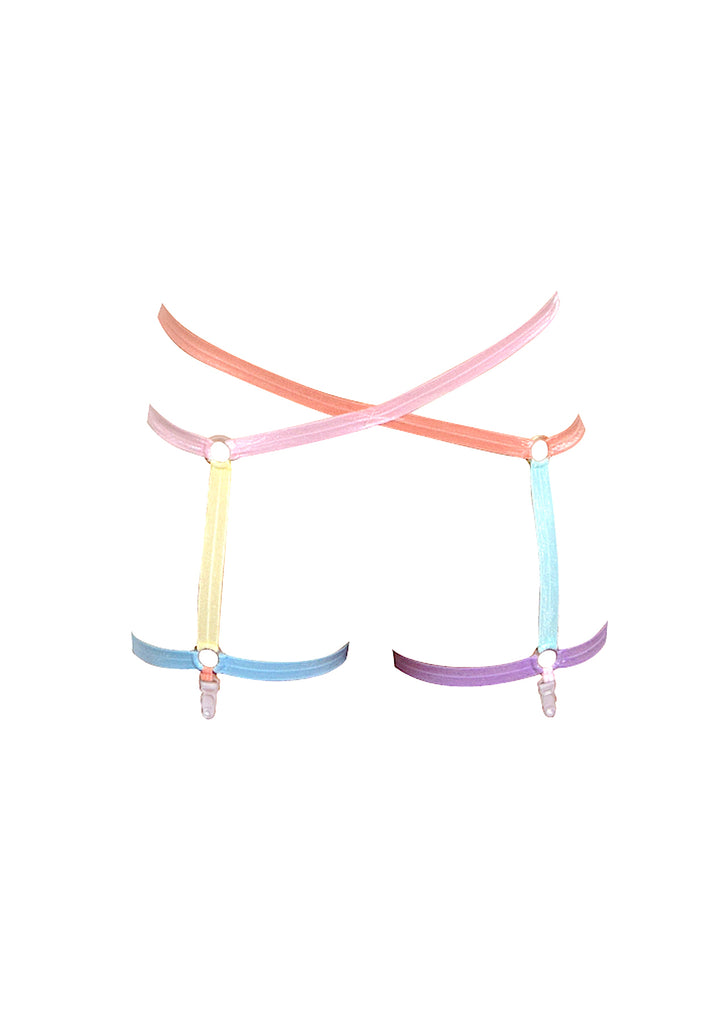 Pastel Harness Garter Belt