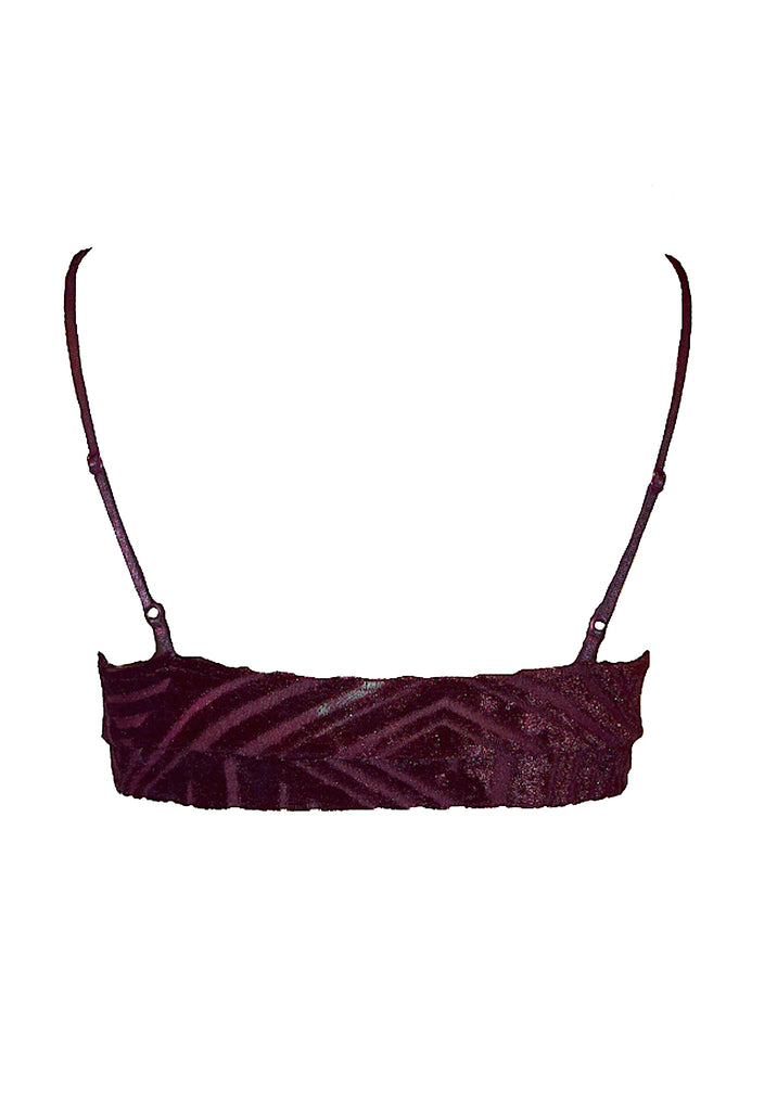 Cut Velour Bralette