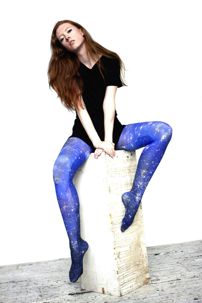 galaxy tights on model
