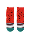 Strawberry Stripe Crew Socks