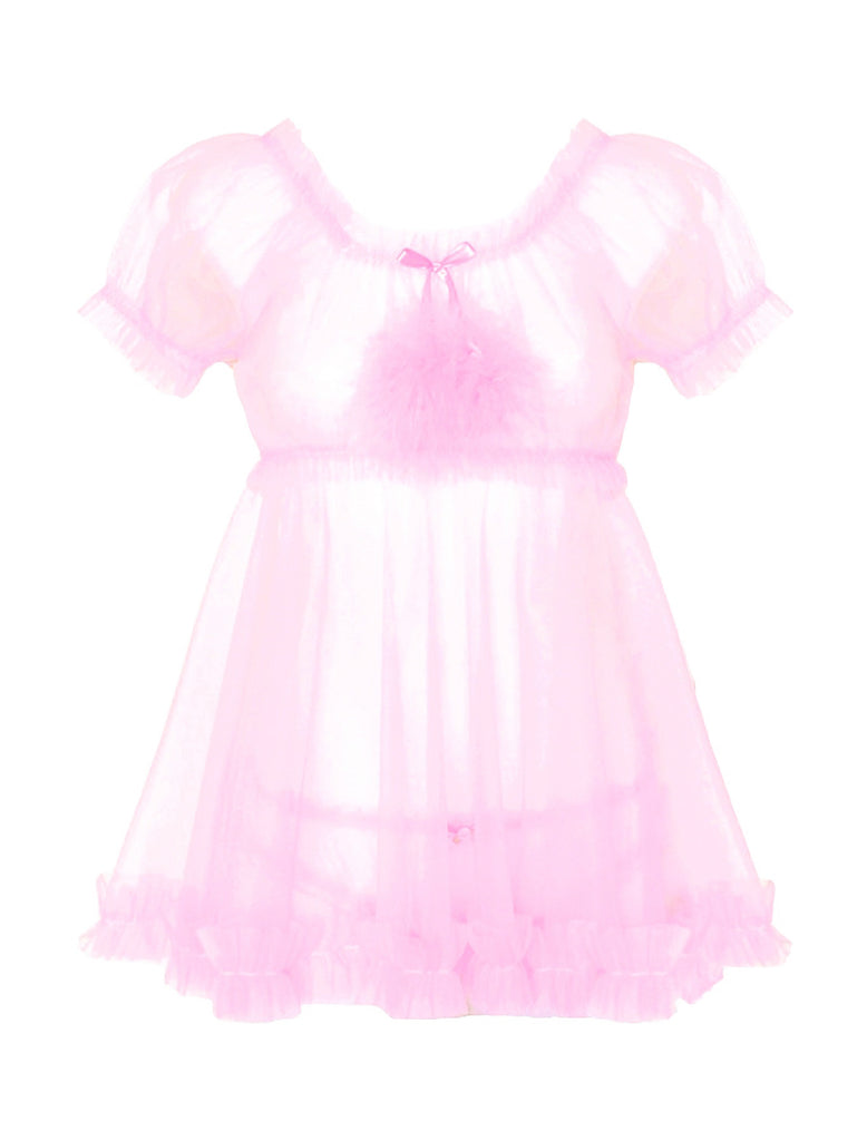 Angel Baby Babydoll Set - Pink