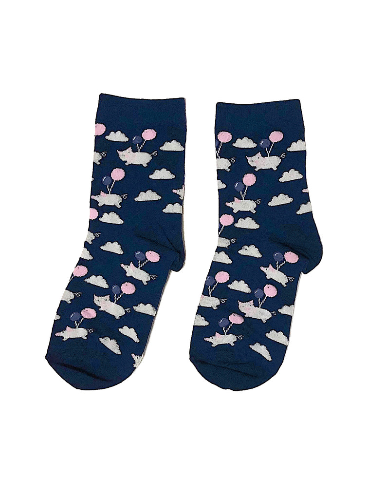 When Pigs Fly Crew Socks